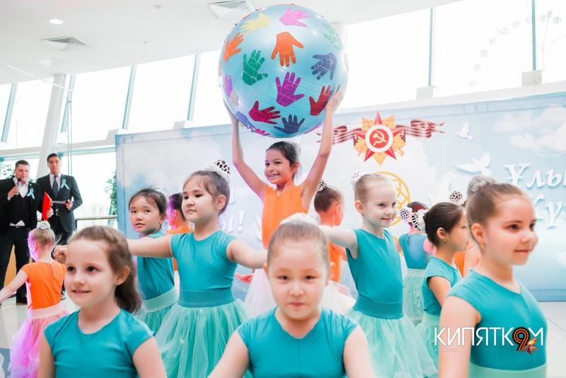 """Празднование  9 мая в ТРЦ """"KeruenCity"""""""