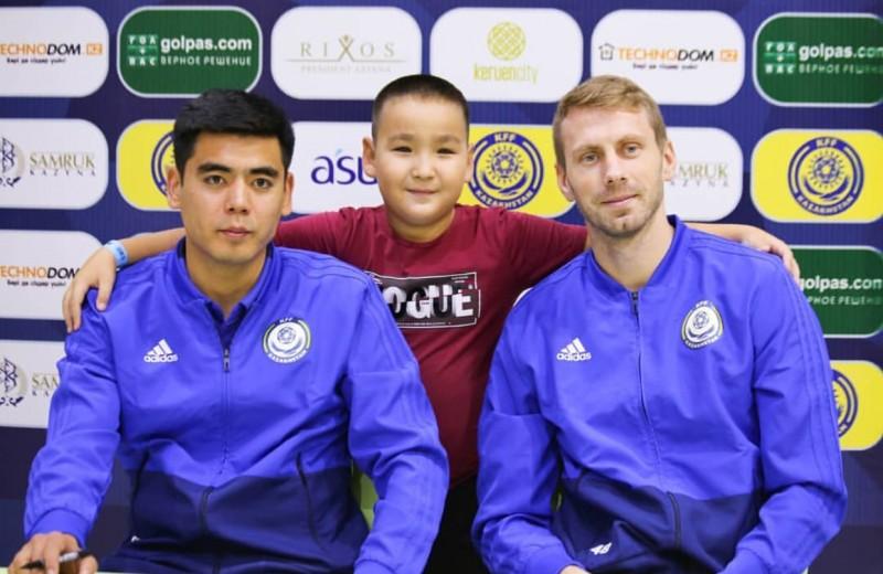 Встреча с футболистами сборной Казахстана